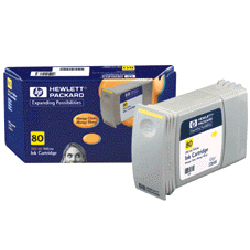 HP No. 80 Ink Cartridge Yellow pro DSJ 105x, 350 ml, C4848A - C4848A