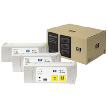 HP No. 81 Dye 3-Ink Multipack, Yellow, C5069A - C5069A