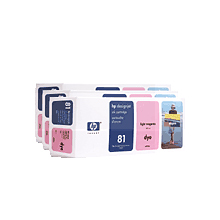 HP No. 81 Dye 3-Ink Multipack, Light Magenta, C5071A - C5071A