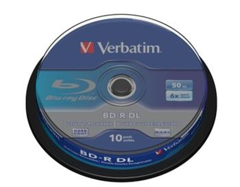 Verbatim BD-R Blu-Ray disk, R,6x, 50GB 10 Pack Spindle - 43746