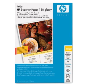 HP Superior Inkjet Paper Glossy, A4, 50 listů, 180 g/m2 - C6818A