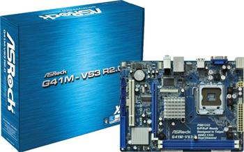 ASRock G41M-VS3, G41 ICH7, DualDDR3-1333, SATA2, VGA, LAN, mATX - G41M-VS3 R 2.0