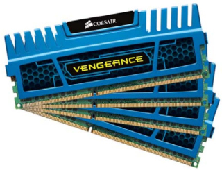 CORSAIR 16GB=4x4GB DDR3 1600MHz VENGEANCE BLUE PC3-12800 9-9-9-24 (16GB= kit 4ks 4096MB s chladičem - CMZ16GX3M4A1600C9B
