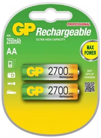 Baterie GP NiMH AA, 1.2V, 2700mAh, tužka, 2 pack - GP 270AAHC 2pack
