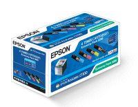 Epson toner čer+bar AcuLaser C1100/1100N/CX11N - CMYK Economy Pack - C13S050268