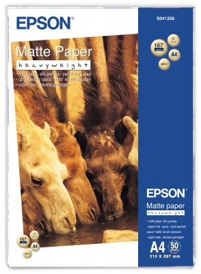 Epson paper A4 Matte - Heavyweight , 50 sheets - C13S041256