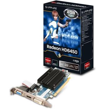 Sapphire HD 6450, 2GB DDR3, DVI, D-Sub, HDMI, PCI-Express - 11190-09-20G