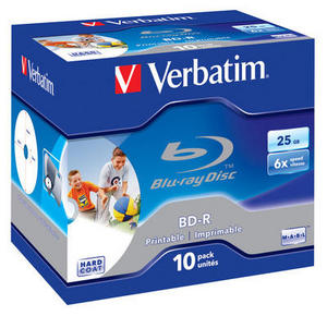 Verbatim Blu-ray BD-R SL 25GB 6x Printable jewel box 1ks - 43713