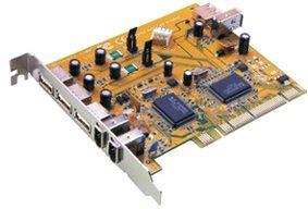 SUNIX PCI karta 3xUSB 2.0 + 2x FIRE WIRE - zkap-11