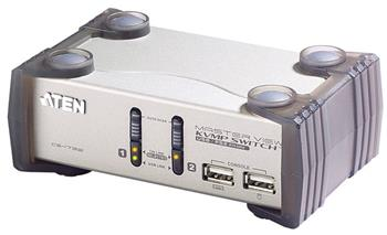 Aten 2-port KVMP USB+PS/2, usb hub, audio, 1.2m kabely CS-1732A - CS-1732A