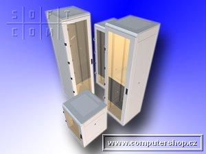 """Triton 19"""" rozvaděč stojanový 15U/600x600, skleněné dveře - RMA-15-A66-CAX-A1"""
