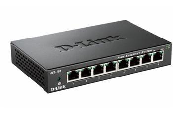D-LINK DES-108 8-port 10/100 Desktop Switch, kov - DES-108