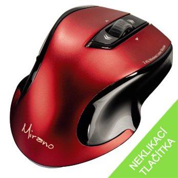 Mirano bezdrátová laserová myš, červeno-černá - 53877