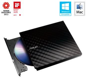 ASUS SDRW-08D2S-U LITE/DWHT/G/AS, černá USB2.0 Externí - 90-DQ0435-UA161KZ