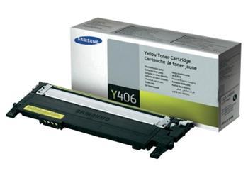 Samsung toner bar CLT-Y406S/ELS pro CLP-360/CLP-365 CLX-3300/CLX-3305 - yellow - 1000 str. - CLT-Y406S/ELS