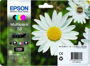 EPSON cartridge T1806 (black / cyan / magenta / yellow) multipack (sedmikráska) - C13T18064010