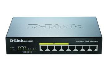 D-LINK DGS-1008P, 8-port Gigabit Desktop Switch, 4 porty jsou PoE - DGS-1008P
