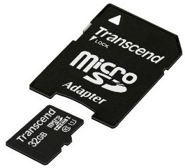 Transcend Micro SDHC UHS-I karta 32GB Class 10 + Adaptér - TS32GUSDU1