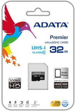 A-Data micro SDHC UHS-I karta 32GB Class 10 - AUSDH32GUICL10-R