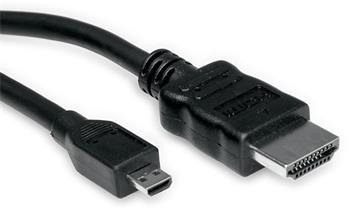 HDMI High Speed kabel s Ethernetem, HDMI M- microHDMI M, 2m standard - 11.99.5581