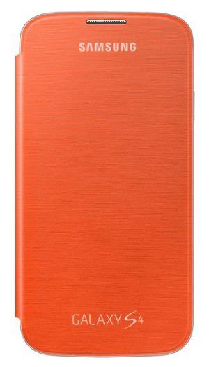 Samsung flipové pouzdro EF-FI950BO pro Galaxy S4 (i9505), oranžová - EF-FI950BOEGWW