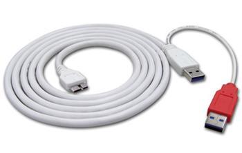 USB 3.0 Y kabel 2x A(M) - Micro USB B(M), 2m - 19.08.1008