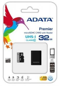 A-Data micro SDHC UHS-I karta 32GB Class 10 + čtečka - AUSDH32GUICL10-RM3BKBL