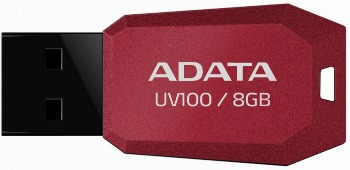 A-Data DashDrive Series UV100 8GB USB 2.0 červený - AUV100-8G-RRD