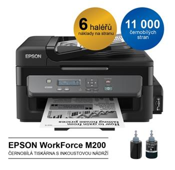 EPSON WorkForce M200, A4, MF, 34 ppm, mono, ITS - C11CC83301