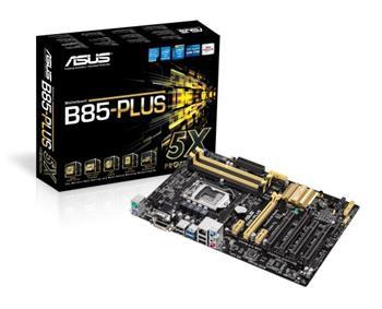 ASUS B85-PLUS, Intel B85, 1150, 4×DDR3, VGA, 6×SATA, LAN, ATX - 90MB0EG0-M0EAY0