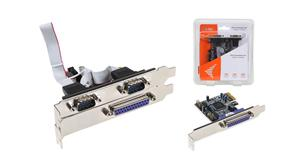 i-tec PCIe 2x serial, 1x parallel card - PCE2S1P