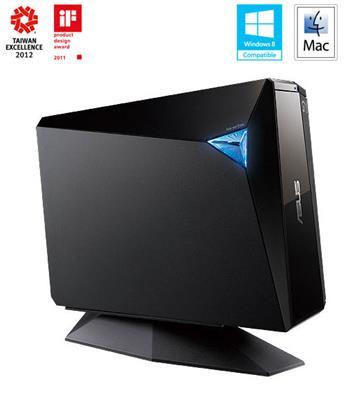 ASUS BW-12D1S-U/BLK/G/AS, Blu-Ray vypalovačka USB 3.0 - 90-D900000-UA021KZ