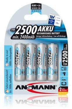 Ansmann maxE akumulátor AA NiMH 2500mAh (4 ks) - 10778
