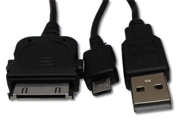 USB kabel 2 v 1 USB > micro USB + iPhone/iPad/iPod - 4040849431210