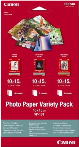 Canon VP-101 Photo Paper Variety Pack 10x15cm - 0775B078
