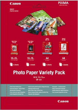 Canon VP-101 Photo Paper Variety Pack A4 & 10x15cm - 0775B079