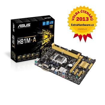 ASUS H81M-A, Intel H81, 1150, 2×DDR3, VGA, 4×SATA, mATX - 90MB0GG0-M0EAY0