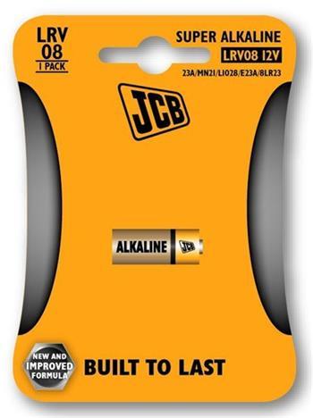 JCB alkalická baterie LR08/12V, blistr 1 ks - JCB-LRV08-1B