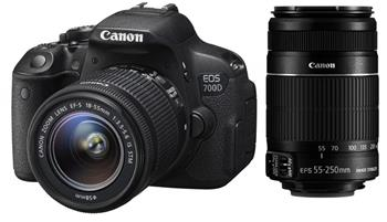 Canon EOS 700D + EF-S 18-55mm IS STM + EF55-250IS STM - 8596B084