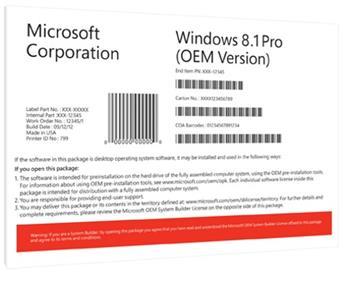 Windows 8.1 Pro 64-bit CZ OEM - FQC-06946