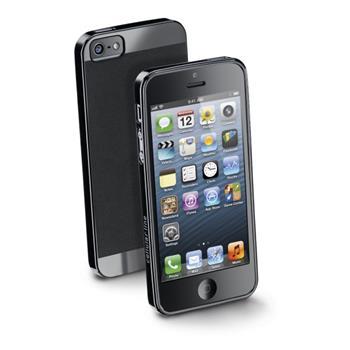 Zadní extratenký ochranný kryt CellularLine Soft Slim pro Apple iPhone 5/5S, černý - SOFTSLIMIPHONE5BK