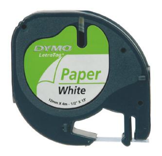 DYMO páska papírová LetraTAG (12mm x 4m) černá na bílé S0721500 - 59421