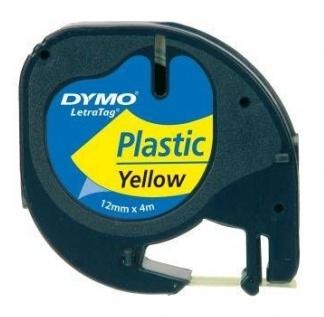 DYMO páska plastová LetraTAG (12mm x 4m) černá na žluté S0721570 - 59423