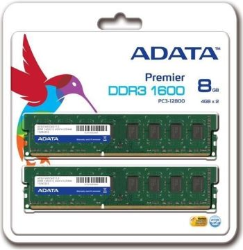 A-DATA 8GB (Kit 2x4GB) DDR3 1600MHz CL11 - AD3U1600W4G11-2