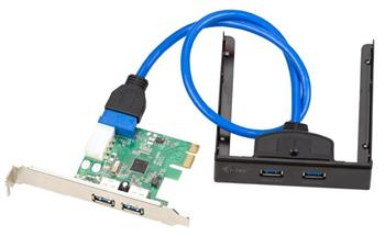 i-Tec PCIe Card 4x USB3.0 SET (2x externí + 2x interní + front panel 2port) - PCE22U3EXT