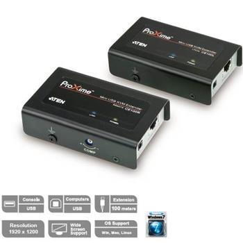 Aten CE-100 Extender PC-konzole na 100m USB až 1920x1200 bodů / surge - CE-100