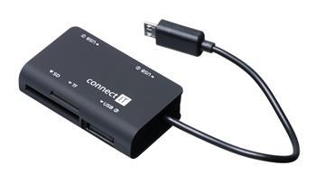 CONNECT IT čtečka paměťových karet + USB hub pro Samsung, micro USB - CI-198