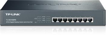 TP-LINK TL-SG1008PE, 8x Gigabit PoE+ Switch - TL-SG1008PE