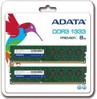 A-DATA 8GB (Kit 2x4GB) DDR3 1333MHz CL9 - AD3U1333W4G9-2
