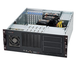 "SUPERMICRO 4U 5x 3,5"" internal HDD bay, 3x 5,25"", 500W (80PLUS Bronze) - CSE-842i-500B"